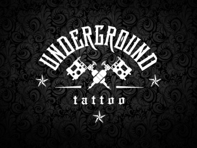 Underground Tattoo branding graphic design vector logo design illustration