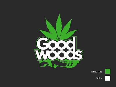 Good Woods Cannabis illustration graphic design vector branding logo design