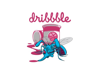 Hello Dribble graphic design vector illustration