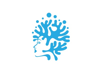 Coral Head Divers flat graphic design logo logo design vector illustration