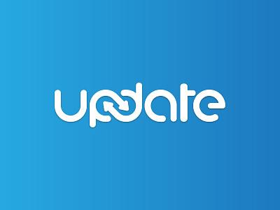 update typography logo illustration logo design vector