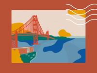 san francisco details sanfrancisco procreate postcard illustrator illustration design dribbbleweeklywarmup