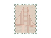 san francisco stamp icon sanfrancisco stamp design stamp vector postcard illustrator illustration dribbbleweeklywarmup design