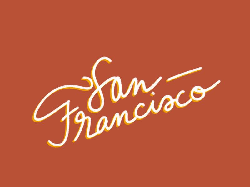 san francisco lettering lettering lettering art font font design procreate sanfrancisco illustration dribbbleweeklywarmup design