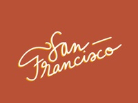 san francisco lettering lettering lettering art font font design procreate sanfrancisco illustration dribbbleweeklywarmup design