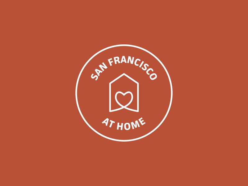 san francisco at home stayhome logo font illustrator sanfrancisco illustration dribbbleweeklywarmup design
