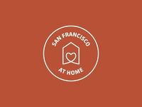 san francisco at home stayhome logo font illustrator sanfrancisco illustration dribbbleweeklywarmup design