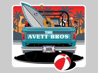 The Avett Brothers sticker design.