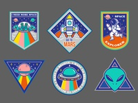 Space sticker pack