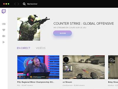 WIP #2 - Twitch Desktop App ux ui application game gaming app desktop stream live twitch
