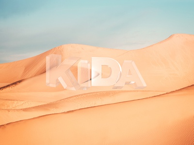 Desert composing photo 3d
