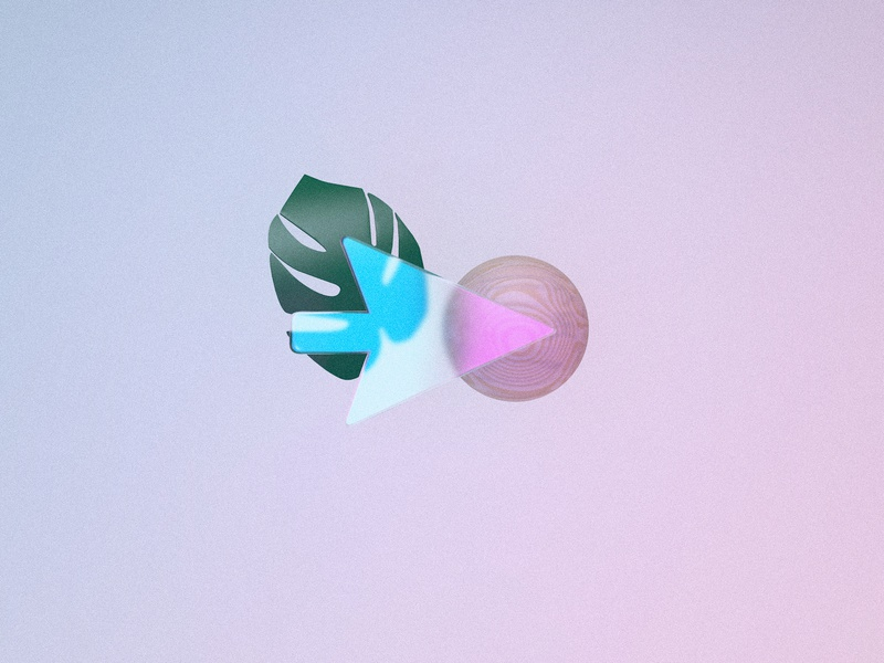 3D abstracts nature wood glass pastel light texture gradient c4d render branding abstract cinema4d 3d
