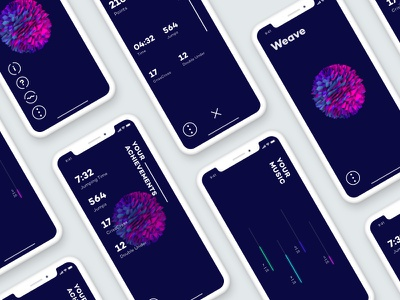 Weave - iPhone X Mockups ux ui mockup minimal iphone x fluent design app