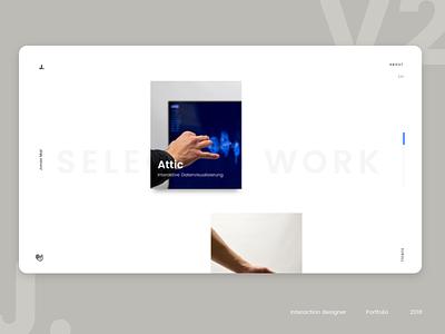 Portfolio motion website ux ui layout design portfolio