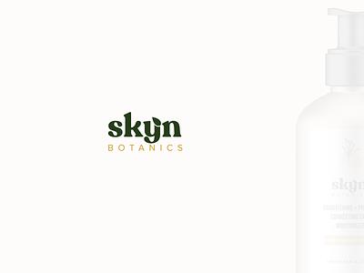 Skyn Botanics Logo Design logodesign logotype cosmetic packaging skincare packaging skincare logo skincare branding skincare vector organic logo cosmetic logo natural logo natural minimal design logo design typography icon logo