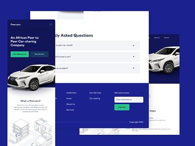 Website Design for Peercars vector typography uxdesign uidesign branding websitedesign website uiuxdesign uiux ux design ui