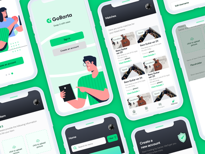 GoBarta Mobile Screen appui appdesign mobileapp graphic design mobileux mobile mobiledesign mobileui vector typography illustration logo design ux ui