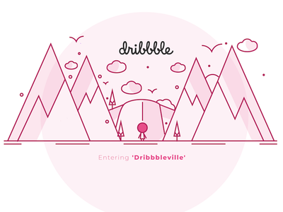 Entering Dribbbleville graphics design illustration