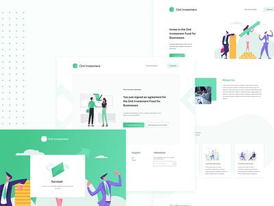 Fintech Website Design icon typography illustration branding ui