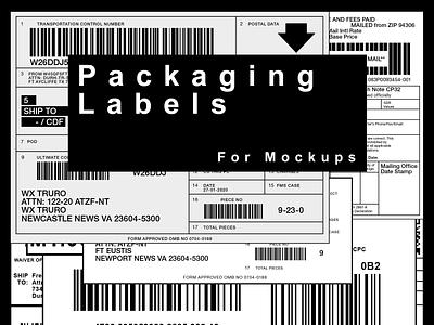 Shipping Labels Free Vector + Web branding black design mockups vector labels