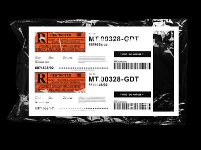 Ticket Design brand modern branding typography design