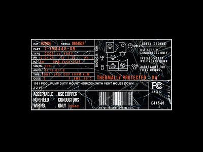 Label modern branding black design typogaphy