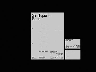 Similique + Sunt letterpress design business card letterhead