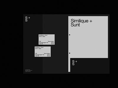 Similique + Sunt Branding black typography brand modern branding design logo