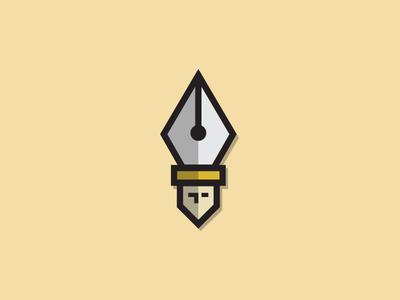 Popelarge logo design pope poetic logo pentool