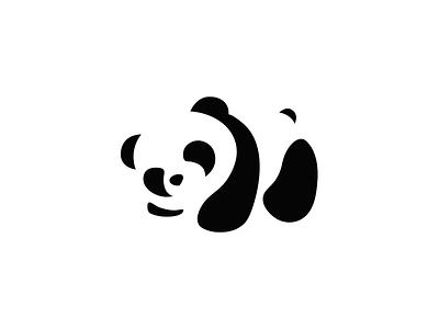 Baby Panda negative space logo design logo panda logo