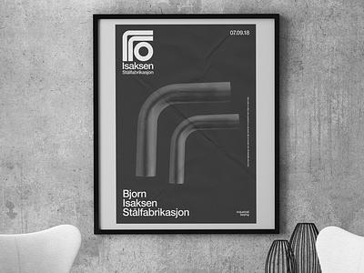 Isaksen poster norway steel logo poster modern