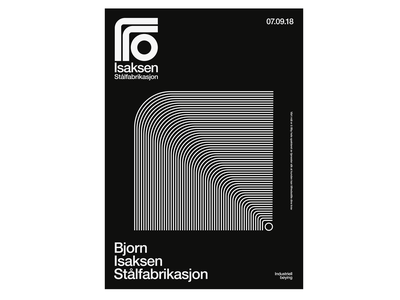 Isaksen Poster steel logo typography modern