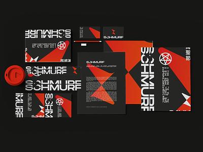 Schmurf Brand Identity System modern black branding concept logo