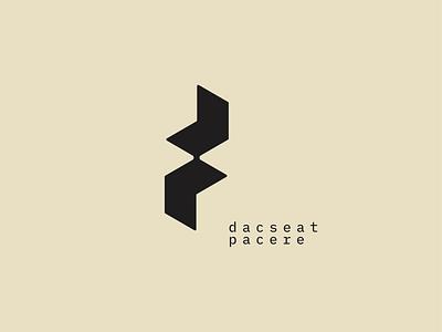 dp Brand identity branding modern black concept design logo