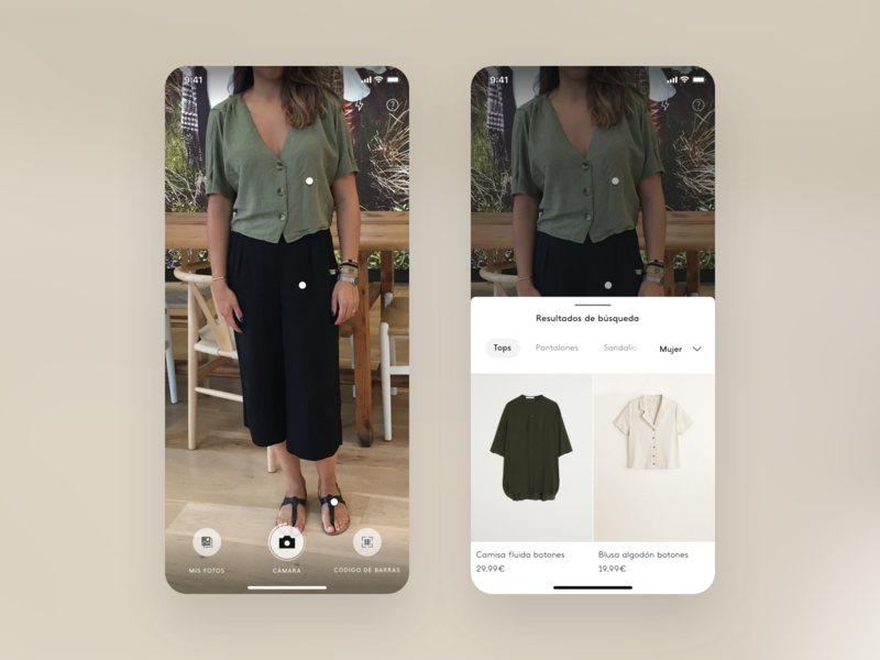 Mango, Visual Search — App design process ios ai camera search results fashion app mango fashion design research ui ux visual design visual search