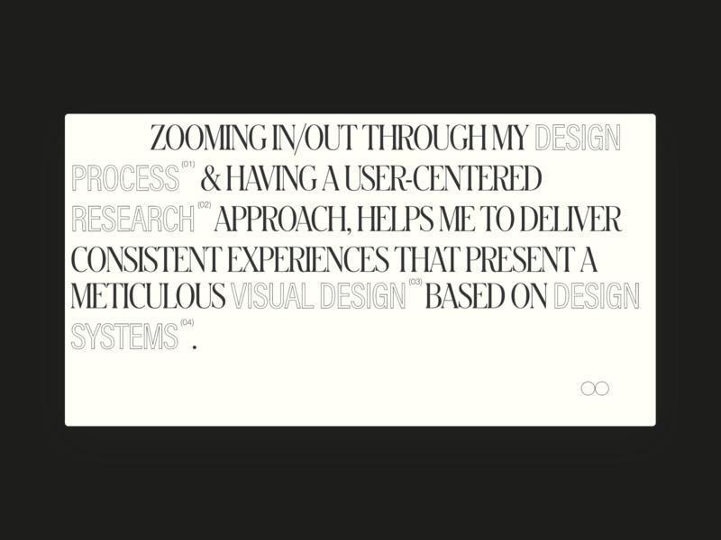 IB — folio 2020 user experience userinterface design process design system research visual design ux ui website folio product designer product design designer design porfolio