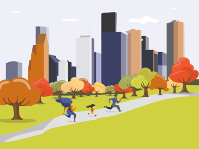 Houston Turkey Trot Illustration