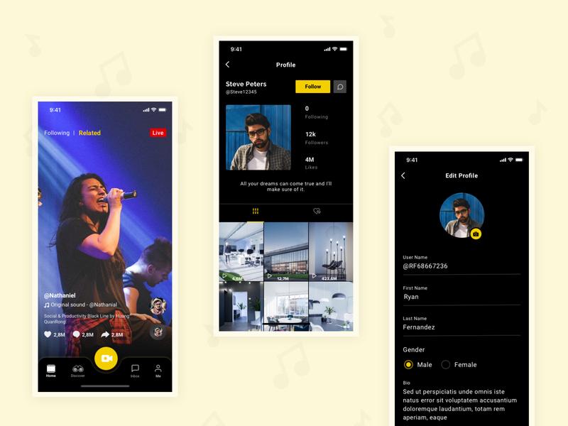 Video App dribbble design createvideo application app design