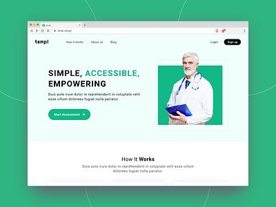 Templ website design doctor appointment doctor