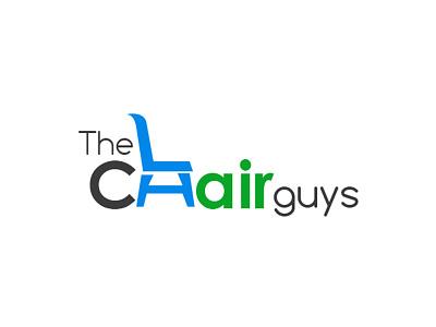 The chair guy Logo typography logo identity logo