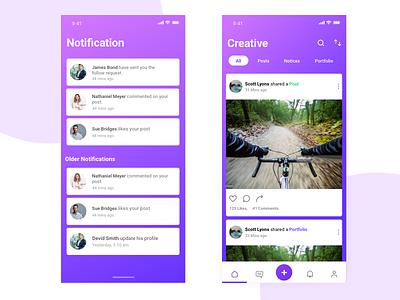 Social Mobile App job social mobile ui design design ux dribbble