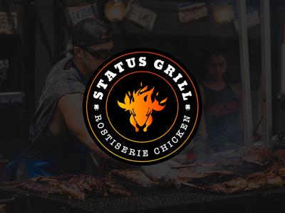 Status Grill chickenlovers chicken icon typography branding logo identity ui logo