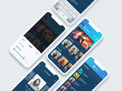 Music App ux design ui art music album music player music app music dribbble app
