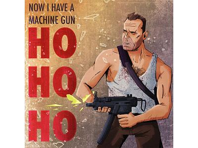 Die Hard characterdesign art illustration diehard christmas