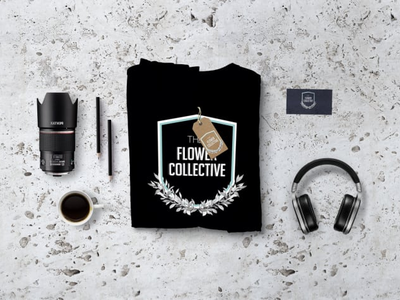 Flower Collective Branding typography logo design mockup logo design branding