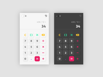 Daily UI #004 : Calculator dailyui 004 neumorphism neumorphic dark theme ui dark theme dark mode calculator application app design 3petitspixels fontawesome app adobe xd adobexd ui dailyui challenge design