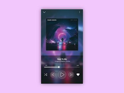 Daily UI #009 : Music Player app design imagine dragons music app music player music ux ui app adobe xd adobexd 3petitspixels dailyui challenge design