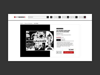 Daily UI #012 : E-Commerce Shop (Single Item) ui design ecommerce bookshop webdesign illustration adobe xd 3petitspixels dailyui