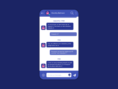 Daily UI #013 : Direct Messaging x files message messaging app ui design app design app adobe xd 3petitspixels challenge dailyui