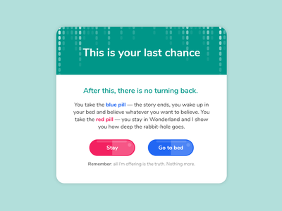 Daily UI #016 : Pop-Up / Overlay challenge fun scifi dailyui 016 ui design matrix pop up popup illustration adobe xd 3petitspixels design dailyui